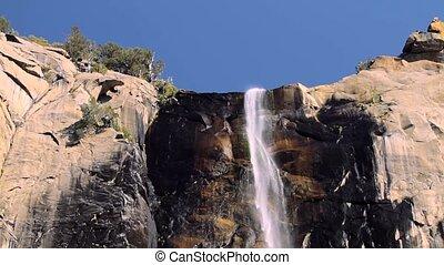 wasserfall, in, Yosemite, Nationalpark, vereint, Staaten,