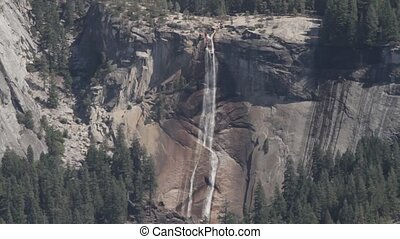 Waterfall in Yosemite Nationalpark, United States - Flat and...