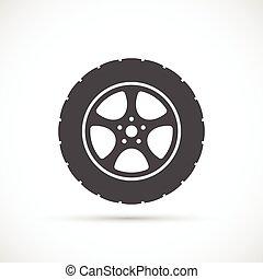 Car wheel icon Car repair service spare part