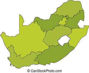 administrative divisions of rsa - map of administrative...