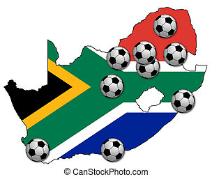 football map of rsa - map of rsa with stadiums of fifa 2010...