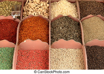 The Spice Market of Aswan in Egypt