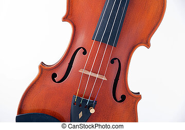 Viola Violin Isolated on White
