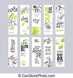 Set of olive oil