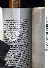 Reading from a Torah Scroll - A Torah Scroll is read from...