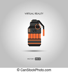 Grenade Gun for virtual reality system Video game weapons...