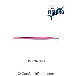 Fishing bait Item of fishing Vector Illustration