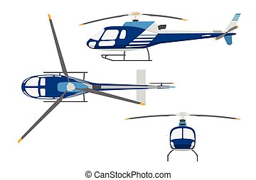 Drawing a helicopter in a flat style.