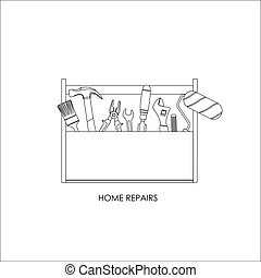 Toolbox. Set of tools for home repairs