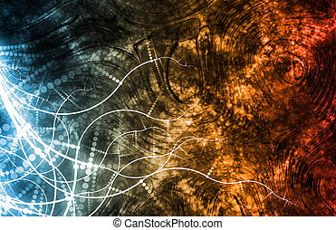 Fun Partying Nightlife Abstract Background
