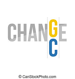 change to chance concept illustration design graphic