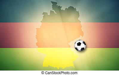 germany soccer ball map regular design