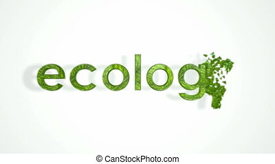 Ecology, Pollution and environment. Abstract word...