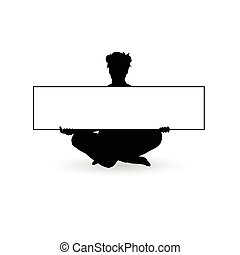 girl beauty with board art silhouette illustration
