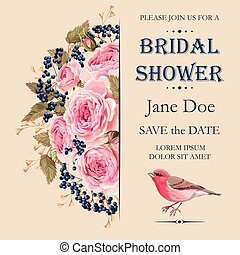 Bridal shower invitation - Vector bridal shower invitation...