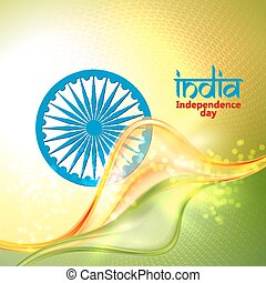 Indian Independence Day concept background with Ashoka...