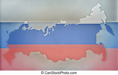 Russia states government outline modern map regular design