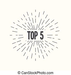 Hand drawn sunburst vector - top 5. For web and mobile icon...