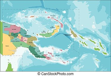 Papua New Guinea map - The Independent State of Papua New...