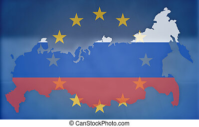 russia europe states government outline modern map regular...