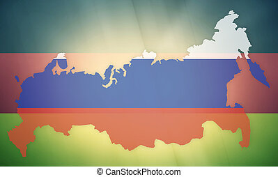 russia germany states government outline modern map regular...