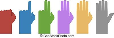 set color counting hands - Creative design of set color...
