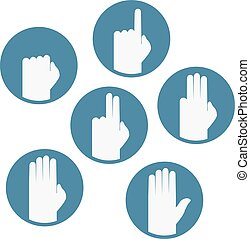 set hands counting icons - Creative design of set hands...