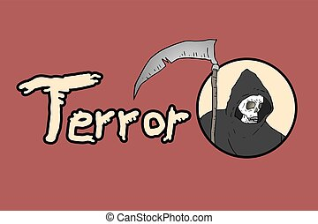 terror dead message - Creative design of terror dead message