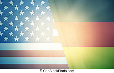 USA Germany states government outline modern map regular...