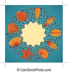 Nautilus shells. Vector.