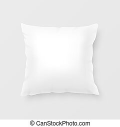 Realistic vector pillow - Close-up realistic white pillow....