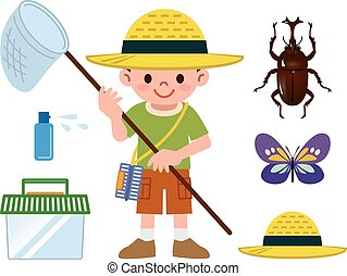 Insect collection set - Vector illustration.Original...