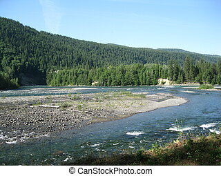 Quesnel River meets the Cariboo - the meeting of two rivers...