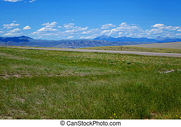 Mountains near Dillon, Montana - Mountains provide a...