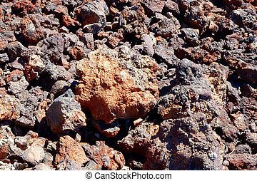 Craters of the Moon - Red Lava - Lava rocks at Craters of...