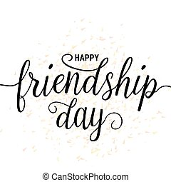 Vector illustration of hand drawn happy friendship day...