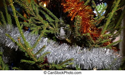 A glass christmas tree ornament - A zoom in on a nice...