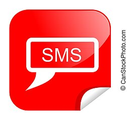 button sms - illustration of a button internet