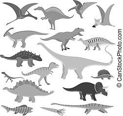 Cartoon dinosaur vector illustration.