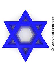 Symbol of Israel 3d