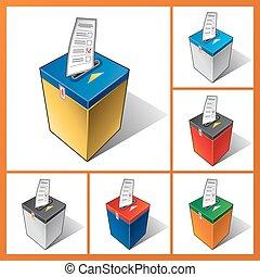 Ballot box, elections