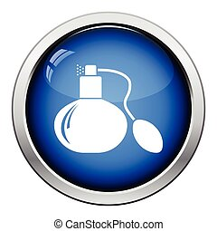 Cologne spray icon Glossy button design Vector illustration...