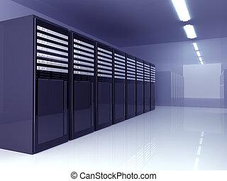 Server Room - 3D Illustration.