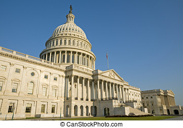 US Capitol Building - The eastern facade of the US Capitol...