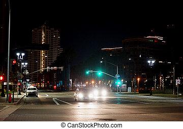 Night downtown San Diego