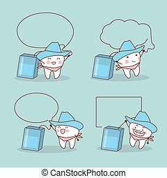 cowboy tooth with speech bubble
