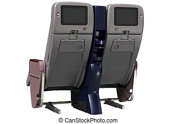 Aircraft chairs digital display - Aircraft chairs gray with...