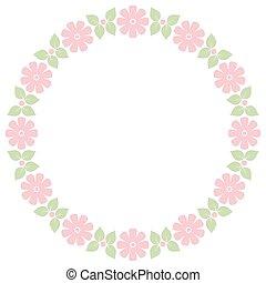 Cute retro flowers frame