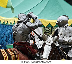 Battling Knights