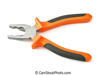 Combination pliers tool. Isolated object.